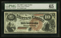 Large Size:Legal Tender Notes, Fr. 101 $10 1880 Legal Tender PMG Gem Uncirculated 65.. ...