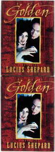 Books:Horror & Supernatural, Lucius Shepard. The Golden. SIGNED. Two Signed FirstEditions of Lucius Shepard's The Golden. Shingletow...(Total: 2 Items)