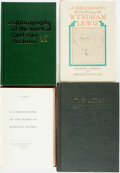 Books:Reference & Bibliography, [Bibliography]. [Wyndham Lewis, Carl Van Vechten, W.H. Auden, Robinson Jeffers]. Group of Four Bibliographies. Includes two ... (Total: 4 Items)