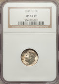 Roosevelt Dimes: , 1947-D 10C MS67 Full Bands NGC. NGC Census: (22/0). PCGS Population (30/1). Mintage: 46,835,000. Numismedia Wsl. Price for ...