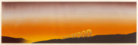 ED RUSCHA (American, b. 1937) Hollywood, 1968 Screenprint in colors 12-3/8 x 40-3/8 inches (31.4