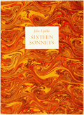 Books:Literature 1900-up, John Updike. SIGNED/LIMITED. Sixteen Sonnets. Halty FergusonPublishing Company, 1979. First edition, limited t...