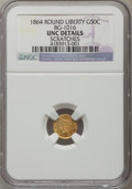 California Fractional Gold, 1864 50C Liberty Round 50 Cents, BG-1016, R.5, -- Scratches -- NGCDetails. Unc. NGC Census: (0/7). PCGS Population (4/37)....