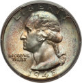 Washington Quarters: , 1945 25C MS67 PCGS. PCGS Population (26/1). NGC Census: (80/3).Mintage: 74,372,000. Numismedia Wsl. Price for problem free...