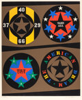 Prints:Contemporary, ROBERT INDIANA (American, b. 1928). The American Dream (fromthe Decade series), 1971. Silkscreen in colors.36-...