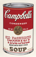 Prints:Contemporary, ANDY WARHOL (American, 1928-1987). Old Fashioned Vegetable(from Campbell's Soup II), 1969. Screenprint in colors.3...