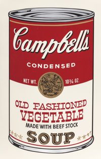 ANDY WARHOL (American, 1928-1987) Old Fashioned Vegetable (from Campbell's Soup II), 1969