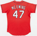 Baseball Collectibles:Uniforms, Circa 1998-99 Joe McEwing Signed St. Louis Cardinals Batting Practice Jersey....