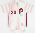 Baseball Collectibles:Uniforms, Mike Schmidt Signed Philadelphia Phillies Jersey....