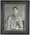 Baseball Collectibles:Photos, Ted Williams Signed Oversized Burke Photograph....