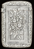 Silver Smalls:Match Safes, A GORHAM SILVER MATCH SAFE, Providence, Rhode Island, circa 1900.Marks: (lion-anchor-G), STERLING, 675, COPYRIGHTED 1886,...