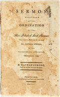 Books:Religion & Theology, Strong, Nathan: A SERMON DELIVERED AT THE ORDINATION OF THE REV. ICHABOD LORD SKINNER, COLLEAGUE PASTOR WITH THE REV. NA...