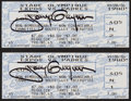 Baseball Collectibles:Tickets, 1999 Tony Gwynn Signed 3000th Hit Full Tickets Lot of 2....