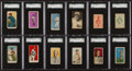 "Baseball Cards:Lots, 1909 - 1933 ""E"" Caramel SGC Graded Collection (12). ..."