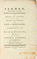 Books:Religion & Theology, Parker, Samuel: A SERMON, PREACHED BEFORE HIS HONOR THE LIEUTENANT-GOVERNOR, THE...SENATE, AND HOUSE OF REPRESENTATIVES,...