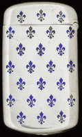 Silver Smalls:Match Safes, AN AMERICAN SILVER AND ENAMEL MATCH SAFE, circa 1910. Marks:STERLING. 2-3/8 inches high (6.0 cm). 0.82 troy ounce. Fr...
