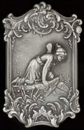 Silver Smalls:Match Safes, A KERR SILVER NATURE'S MIRROR PATTERN MATCH SAFE, Newark,New Jersey, circa 1900. Marks: STERLING. 2-3/4 inches ...