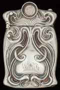 Silver Smalls:Match Safes, AN UNGER BROS. SILVER MATCH SAFE WITH CIGARETTE CUTTER, Newark, NewJersey, circa 1900. Marks: UB (interlaced), STERLI...