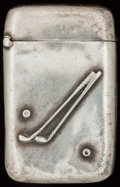 Silver Smalls:Match Safes, AN UNGER BROS. SILVER MATCH SAFE, Newark, New Jersey, circa 1900.Marks: UB (interlaced), STERLING, 925, FINE. 2-3/8...