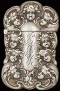 Silver Smalls:Match Safes, AN UNGER SILVER AND SILVER GILT MATCH SAFE, Newark, New Jersey,circa 1900. Marks: UB (interlaced), STERLING. 2-3/4...