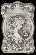 Silver Smalls:Match Safes, AN UNGER SILVER AND SILVER GILT MATCH SAFE, Newark, New Jersey,circa 1900. Marks: UB (interlaced), STERLING, 925FINE...