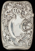 Silver Smalls:Match Safes, A WALLACE SILVER AND SILVER GILT MATCH SAFE, Wallingford,Connecticut, circa 1900. Marks: R.W. (stag head), &S,STERLI...