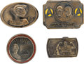 Memorabilia:Science Fiction, Star Trek, A-Team, and E.T. Belt Buckle Group (1976-82).... (Total: 4 Items)