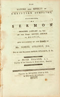 Books:Religion & Theology, Thacher, Peter: THE NATURE AND EFFECTS OF CHRISTIAN SYMPATHY, CONSIDERED, IN A SERMON, PREACHED JANUARY 19, 1794. AT THE...