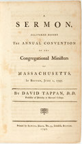 Books:Religion & Theology, Tappan, David: A SERMON, DELIVERED BEFORE THE ANNUAL CONVENTION OF THE CONGREGATIONAL MINISTERS OF MASSACHUSETTS, IN BOS...