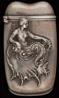 Silver Smalls:Match Safes, A WHITING SILVER MATCH SAFE, New York, New York, circa 1900. Marks:(W-griffin), STERLING, 1675. 2-1/2 inches high (6.4 ...