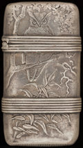 Silver Smalls:Match Safes, A WHITING SILVER MATCH SAFE, New York, New York, circa 1900. Marks:(W-griffin), STERLING, 14X. 2-5/8 inches high (6.7 c...