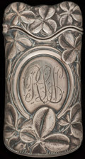 Silver Smalls:Match Safes, A WHITING SILVER MATCH SAFE, New York, New York, circa 1890. Marks:(W-griffin), STERLING, 619. 2-5/8 inches high (6.7 c...