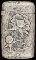 Silver Smalls:Match Safes, A WHITING SILVER MATCH SAFE, New York, New York, circa 1884. Marks:(W-griffin), STERLING, 18K. 2-1/2 inches high (6.4 c...