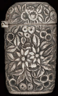 Silver Smalls:Match Safes, A JACOBI SILVER MATCH SAFE, Baltimore, Maryland, circa 1890. Marks:A. JACOBI & CO., STERLING. 2-3/4 inches high (7.0 cm...