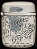 Silver Smalls:Match Safes, A HAYDEN SILVER MATCH SAFE, Newark, New Jersey, circa 1901. Marks:WHW (interlaced), 234. 1-3/4 inches high (4.4 cm)...