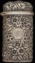 Silver Smalls:Match Safes, AN A. JACOBI & CO. SILVER MATCH SAFE, Baltimore, Maryland,circa 1880. Marks: A. JACOBI & CO., STERLING. 2-5/8inches hi...