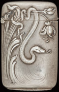 Silver Smalls:Match Safes, A CARTER & HOWE SILVER AND SILVER GILT MATCH SAFE, New York,New York, circa 1900. Marks: C (within arrow),STERLING...