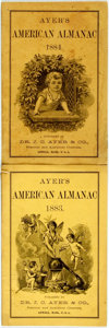 Books:Americana & American History, [Almanac]. Group of Two Ayer's American Almanacs, 1883,1884. Lowell: J.C. Ayer, 1883-1884. Twelvemos. Publisher's p...(Total: 2 Items)