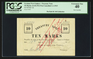 Featured item image of German New Guinea Treasury 10 Marks 14.10.1914 (1.1.1915) Pick 2b  ...