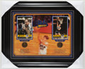 Basketball Collectibles:Photos, John Wooden and Bill Walton Multi Signed Display....