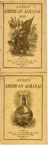 Books:Americana & American History, [Almanac]. Group of Two Ayer's American Almanacs, 1892,1893. Lowell: J.C. Ayer, 1892-1893. Twelvemos. Publisher's p...(Total: 2 Items)