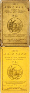 Books:Americana & American History, [Almanac]. Group of Two Ayer's American Almanacs, 1864,1865. Lowell: J.C. Ayer, 1864-1865. Twelvemos. Publisher's p...(Total: 2 Items)