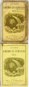 Books:Americana & American History, [Almanac]. Group of Two Ayer's American Almanacs, 1873.Lowell: J.C. Ayer, 1873. Twelvemos. Publisher's printed wrap...(Total: 2 Items)