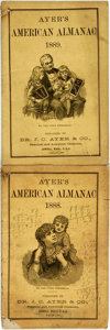 Books:Americana & American History, [Almanac]. Group of Two Ayer's American Almanacs, 1888,1889. Lowell: J.C. Ayer, 1888-1889. Twelvemos. Publisher's p...(Total: 2 Items)