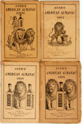 Books:Americana & American History, [Almanac]. Group of Four Ayer's American Almanacs,1902-1906. Lowell: J.C. Ayer, 1902-1906. Twelvemos. Publisher'sp... (Total: 4 Items)