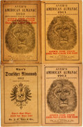 Books:Americana & American History, [Almanac]. Group of Three Ayer's American Almanacs,1910-1913 and One Ayer's Deutscher Almanach, 1912....(Total: 4 Items)