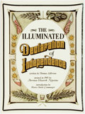 Books:Americana & American History, [Thomas Jefferson]. Sherman Ellsworth Notestine. The IlluminatedDeclaration of Independence. New York: Harmony Book...