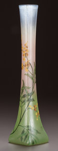 Art Glass:Legras, LEGRAS ENAMELED GLASS VASE, circa 1900. Enameled: Legras. 15inches high (38.1 cm). ...