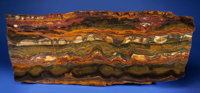 IMPRESSIVE TIGER'S EYE TABLETOP Mount Brockman Station, Pilbara, Western Australia