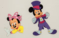 Animation Art:Production Cel, Mickey Mouse and Minnie Mouse Production Cel Animation Art Group(Walt Disney, c. 1980s-90s).... (Total: 2 Original Art)